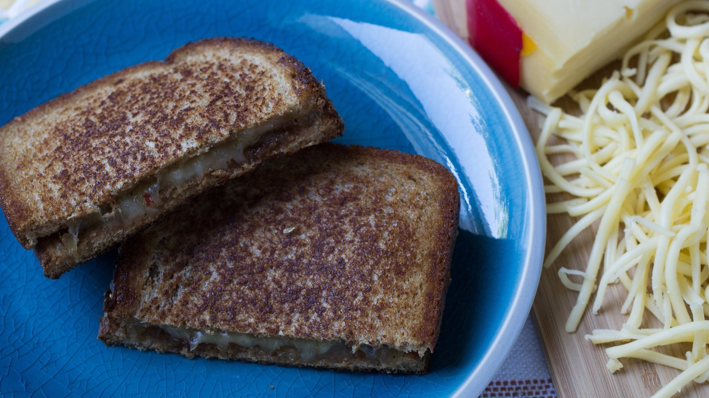 """Grilled cheese. Excerpted from """"Pulutan: Filipino Bar Bites, Appetizers, and Street Eats""""."""