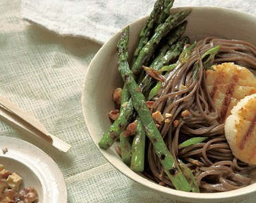 Soba Noodles with Scallops