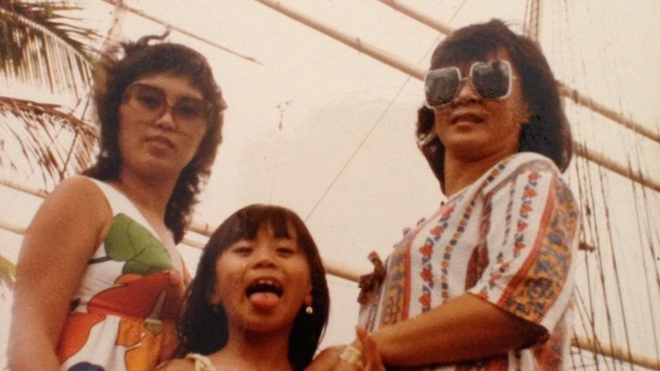 Guest host Karen Tongson goofing with her mom and grandmother in Honolulu, Hawai'i, the first U.S. state she and her mother immigrated to from the Philippines.