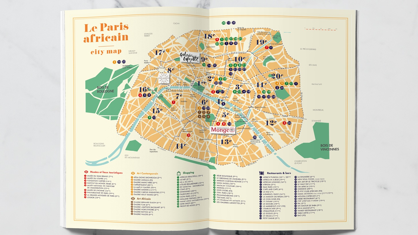 """Discovering African markets, fabric shops, art galleries, and nightlife is made easy with Jacqueline Ngo Mpii's pocket guide, """"Africa in Paris."""""""
