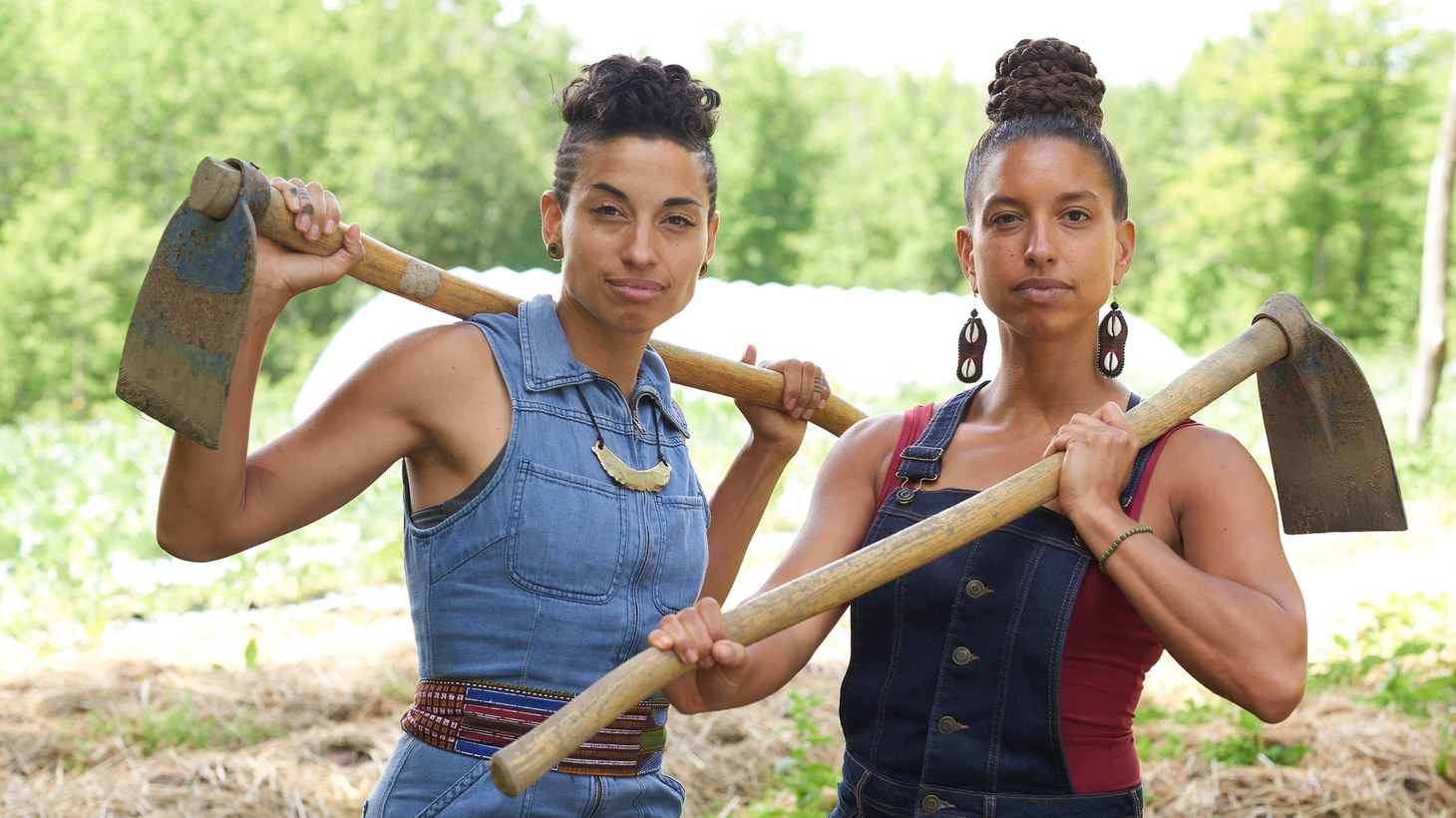 Naima Penniman (left) and Leah Penniman work at Soul Fire Farm, an Afro-Indigenous-centered community farm in upstate New York, and are looking to change the narrative about farming and agriculture.