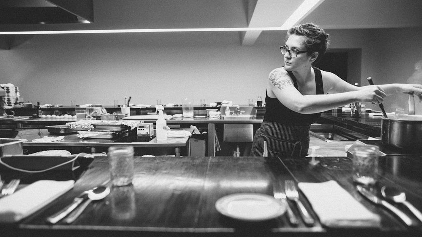 Lisa Donovan prepares for a Buttermilk Road Sunday Supper at The Catbird Seat Restaurant in Nashville, 2014.
