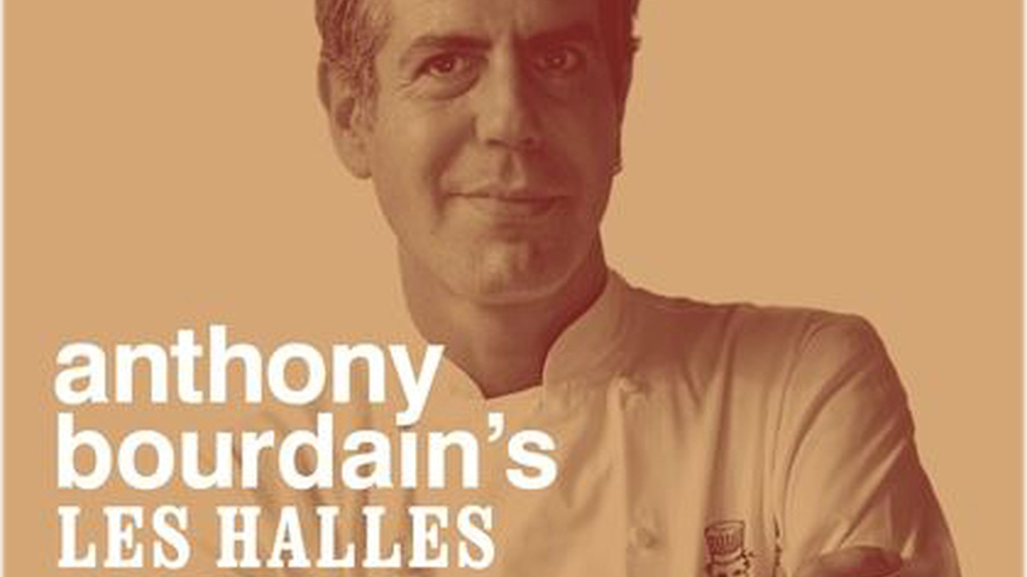 """Front cover of """"Les Halles Bookbook"""" by Anthony Bourdain."""