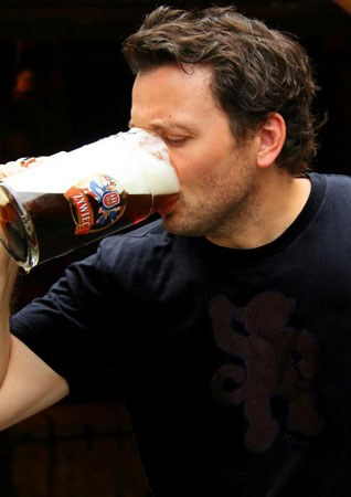 Zane Lamprey Drinking