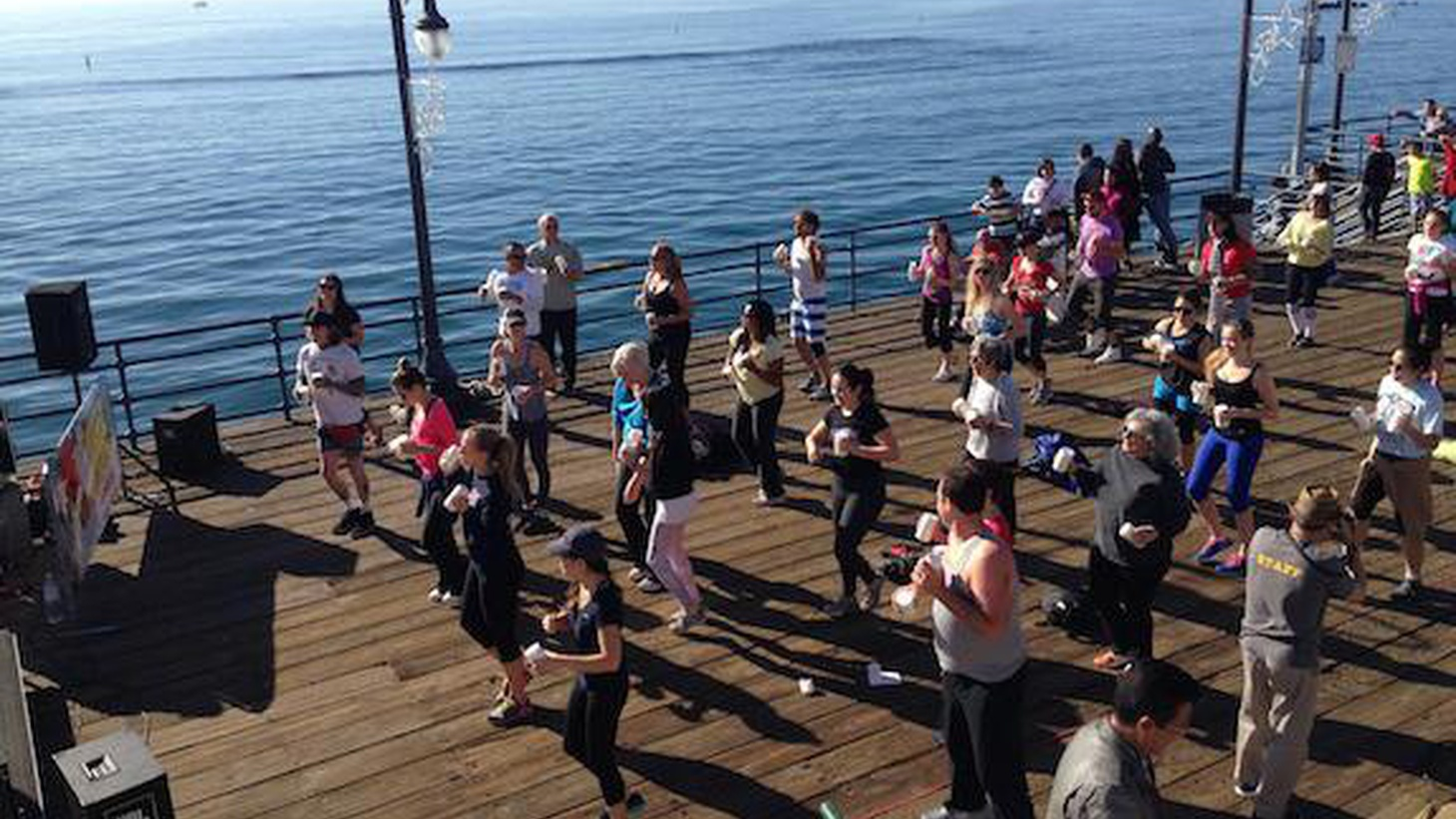 A butter aerobics class enlivens the Santa Monica Pier, Christiaan Rollich talks about his innovative cocktails and a look at the drought that is threatening farmers.