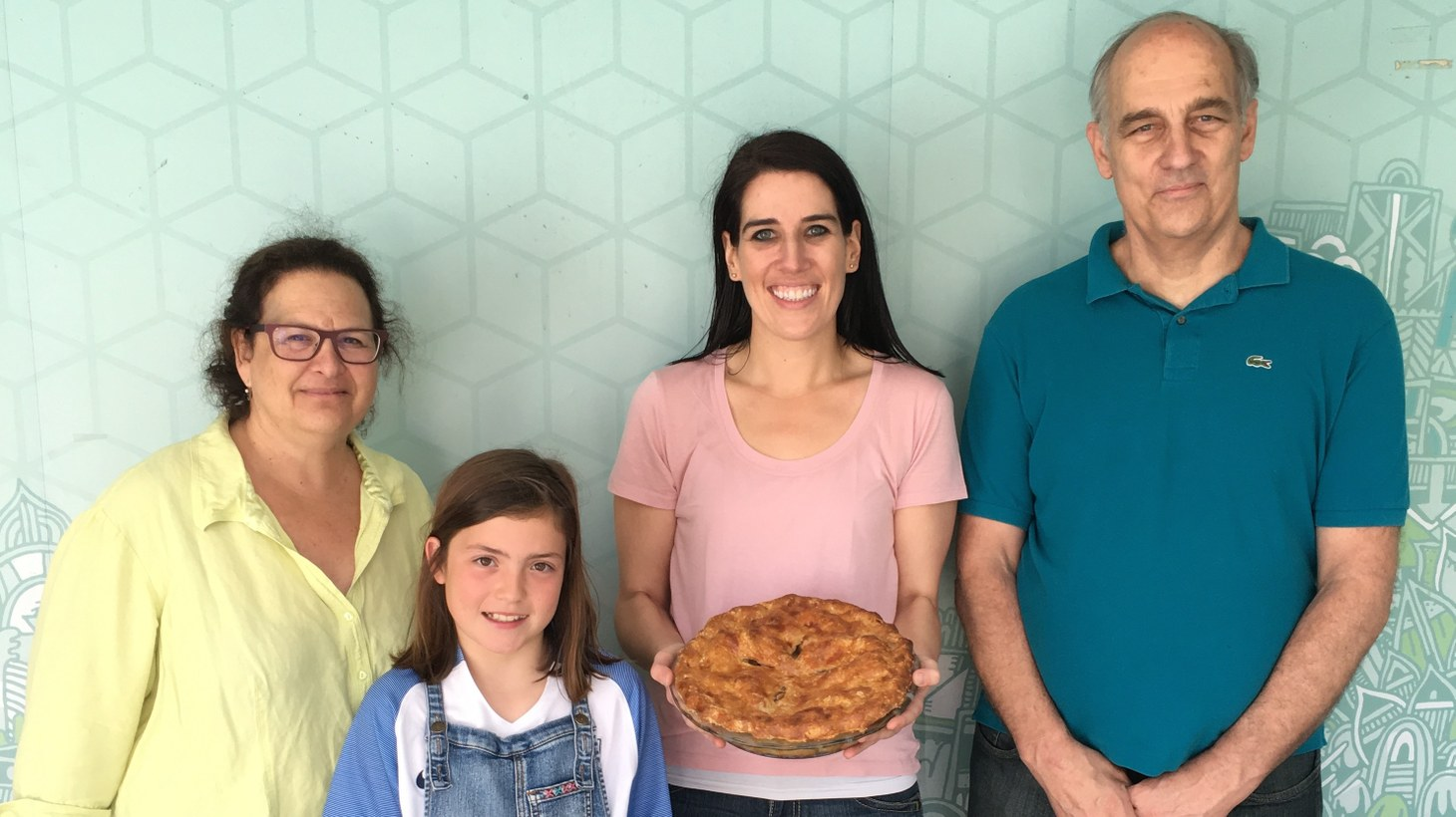 "After last year's Pie Contest, Kate Sherry, Meg Craven, and Mike Craven visited ""Good Food"" with their winning pies."