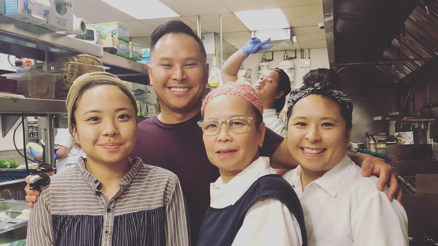 Cathy Asapahu (left) works at Ayara Thai with her parents and siblings at the family's restaurant, Ayara Thai, while splitting time in the kitchen of fine dining restaurant, Providence.