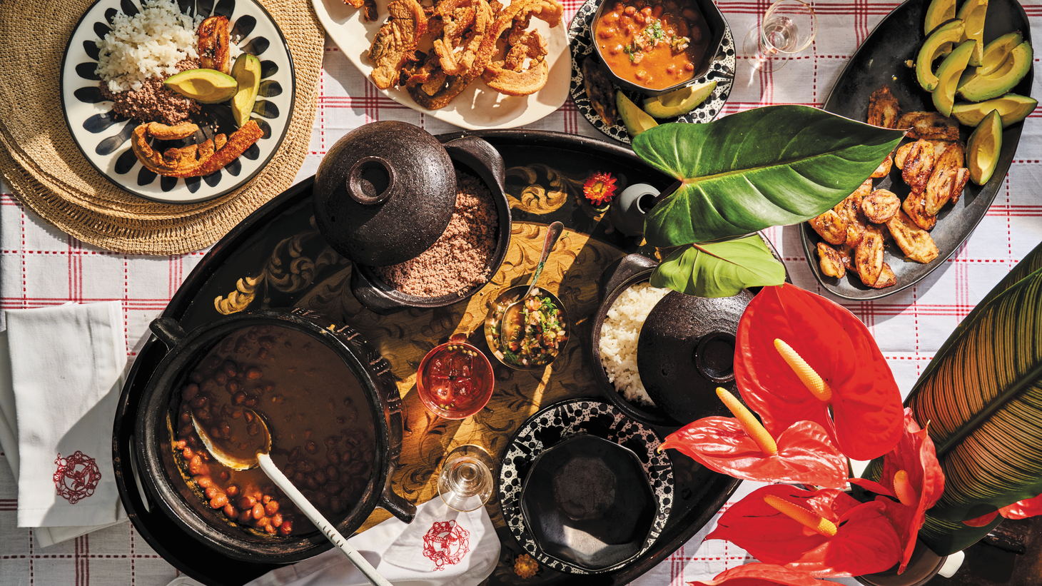 """With grilled arepitas and tomato coriander jam, red bean soup with brisket dust, pork belly, sweet plantains, white rice and ají, Mariana Velàsquez curates a menu that pays homage to Medellín, Colombia. Her new cookbook is """"Colombiana."""""""