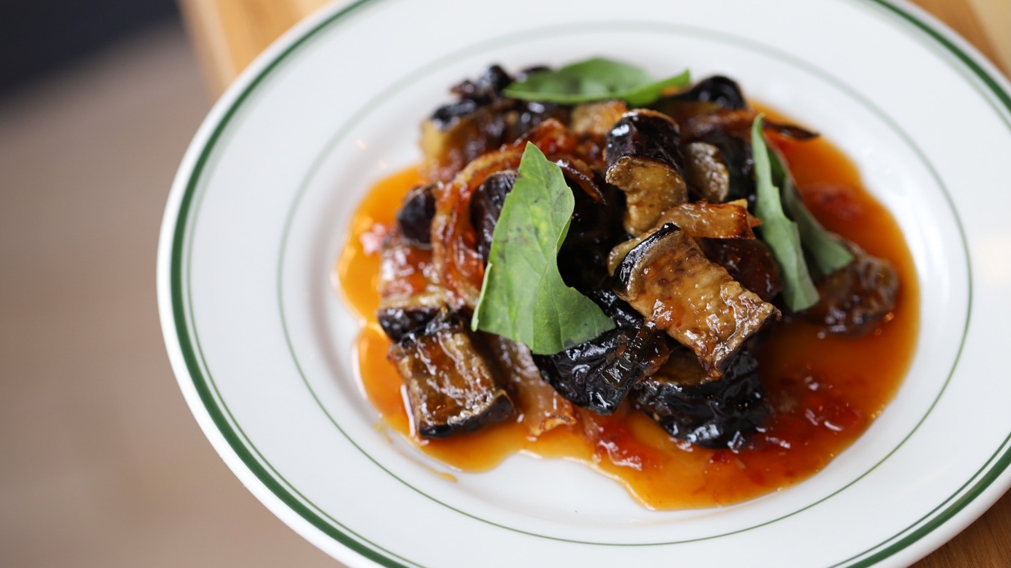 A side dish of Japanese eggplant with Calabrian chili agrodolce is how Chef Chris Keyser of U Street Pizza and Union in Pasadena is putting this nightshade to work.