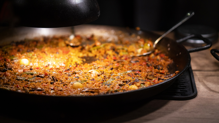 Paella is precious in Valencia, Spain. Food writer Matt Goulding asserts that you can find the entire history of Spain within the perimeter of the paella pan.