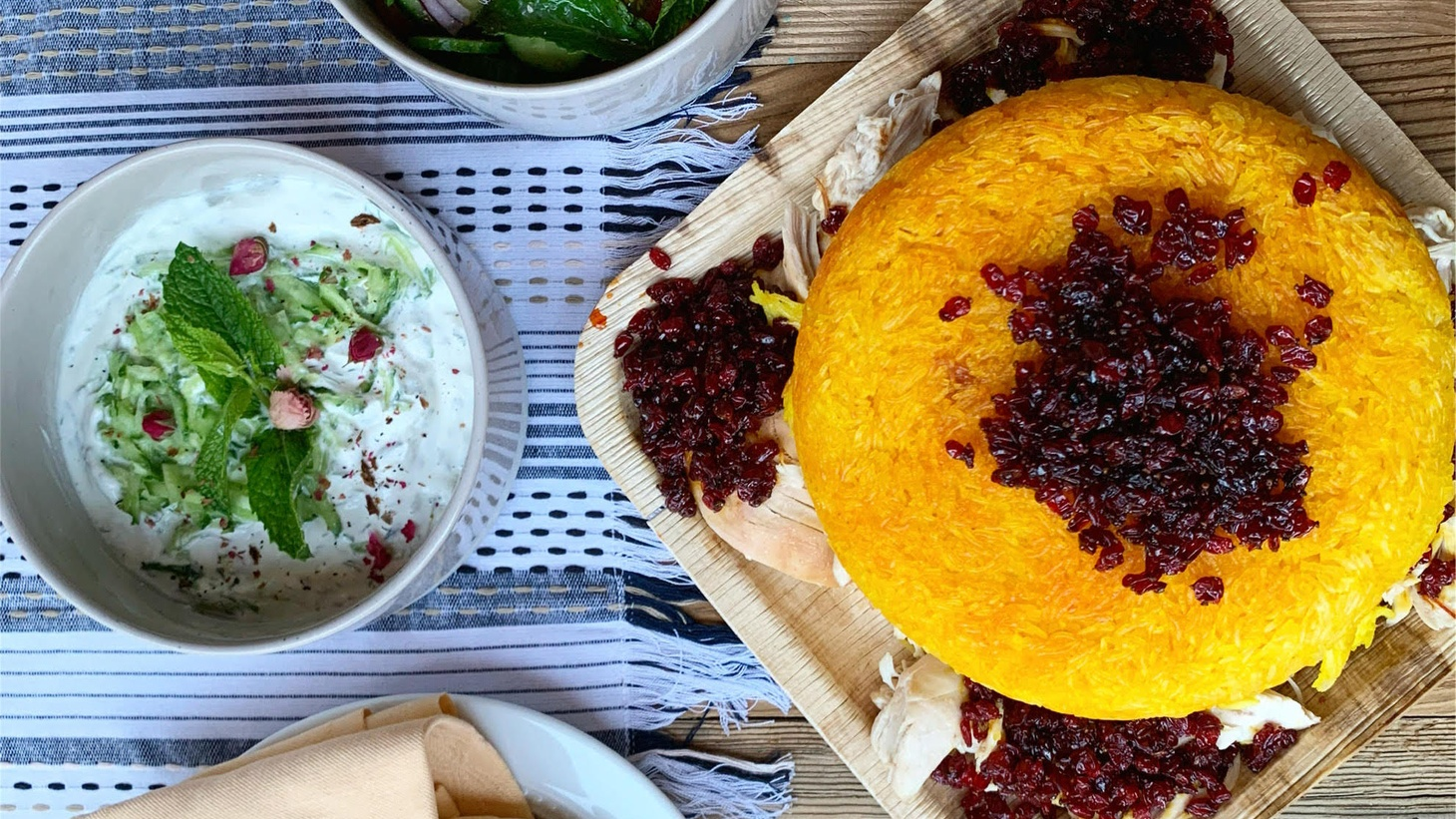 Tahdigs are the bottom of the pot, where the crispy tops of the domes form. The Persian dish has found a wide audience and is showcased at Golden Rice Co. operated by Farah and Sophia Parsa.