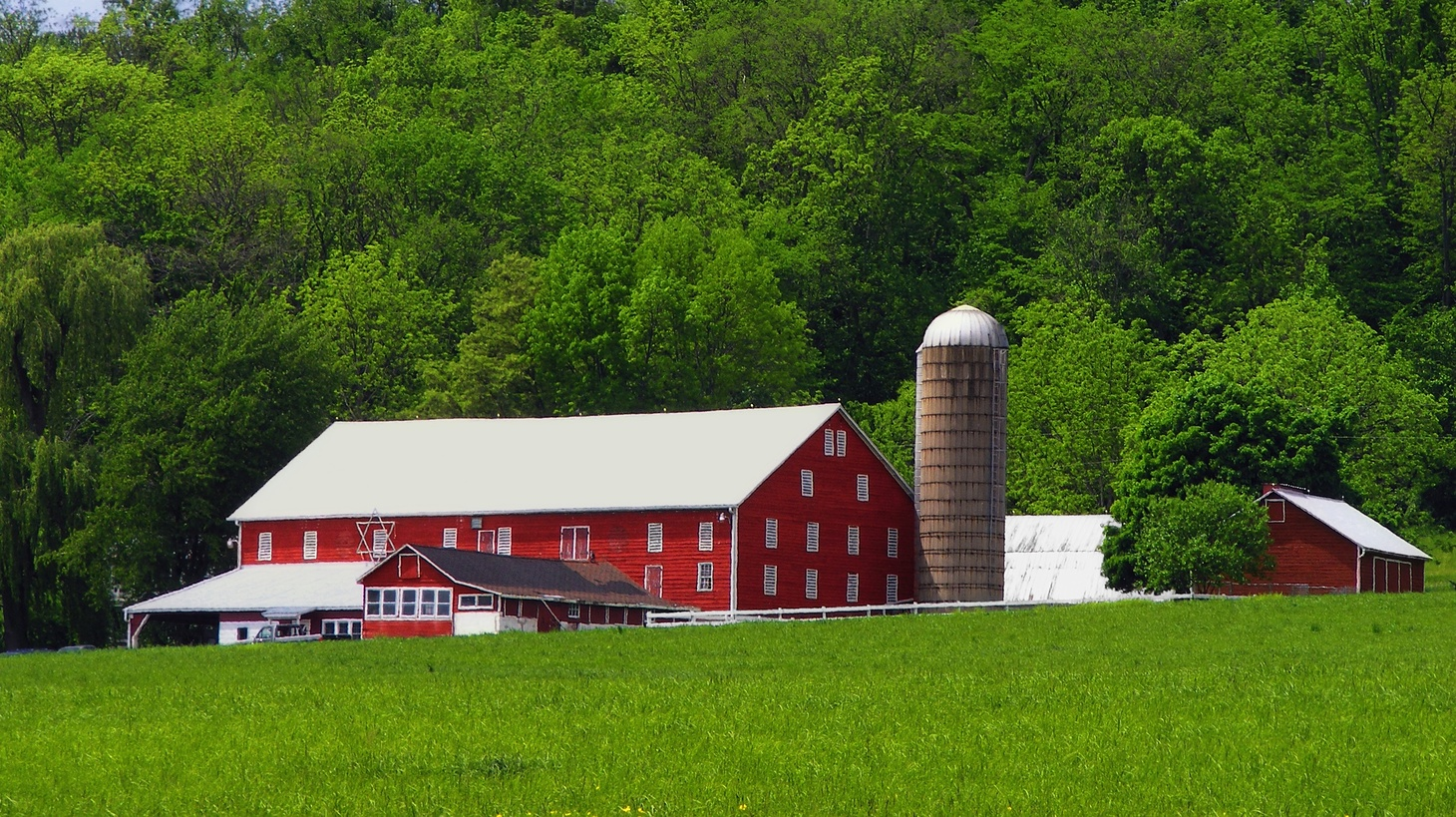 A farmstead in Adams Township, Snyder County, Pennsylvania.