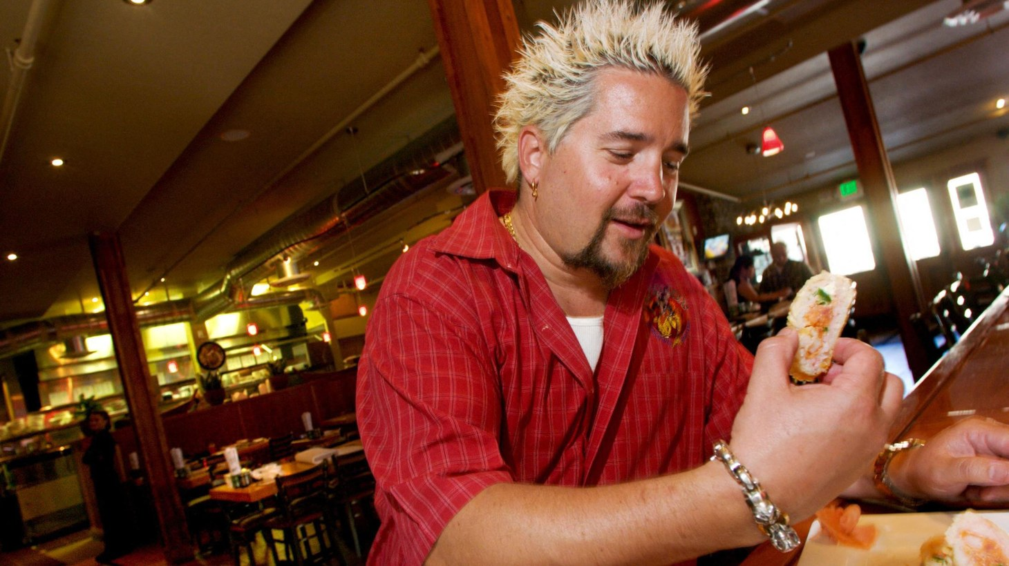 Guy Fieri, restaurateur and food network chef at his restaurant, Tex Wasabi's, in Sacramento, Calif., on March 27, 2007.