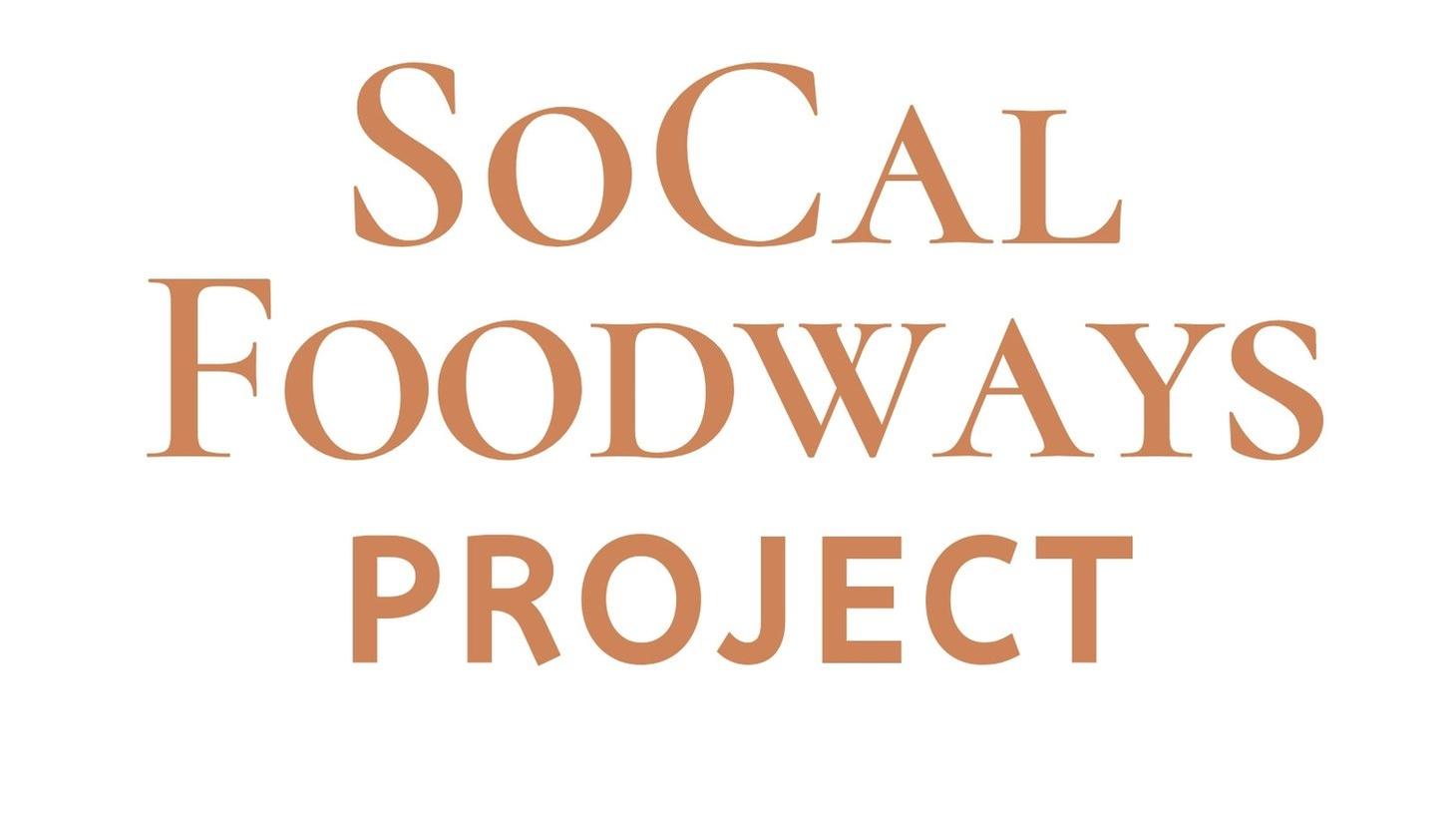 The Southern California Foodways Project will host its first symposium on October 11, 2019.