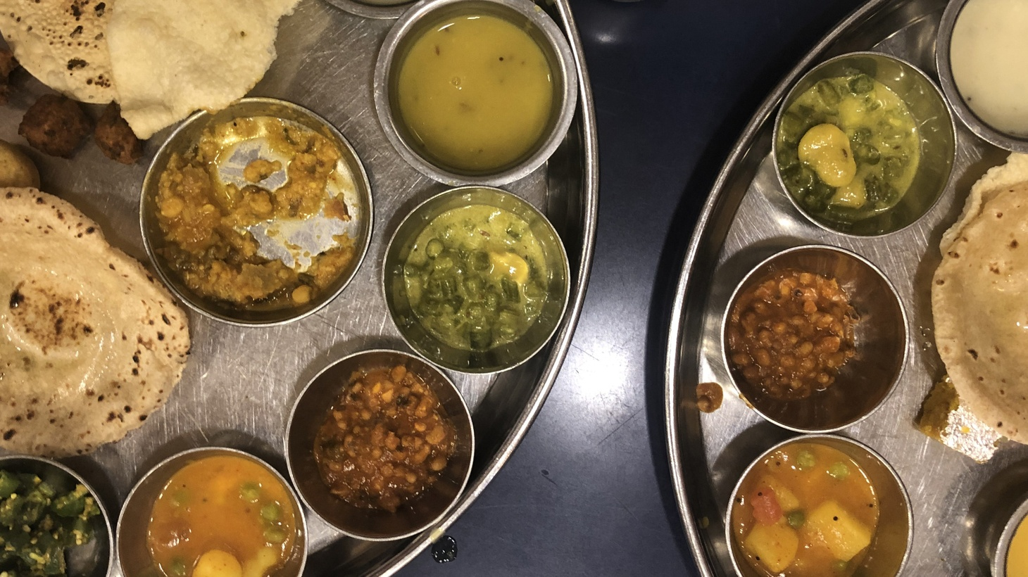 In Mumbai, Besha Rodell visited Shree Thaker Bhojanalay, which specializes in Gujarati thali.