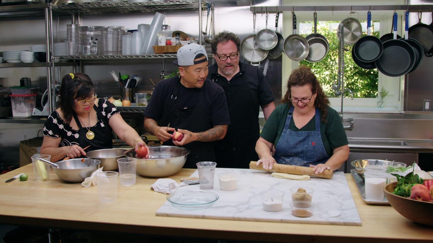 The Chef Show. Season 1, episode 4 with Roy Choi, Jon Favreau, and Evan Kleiman.