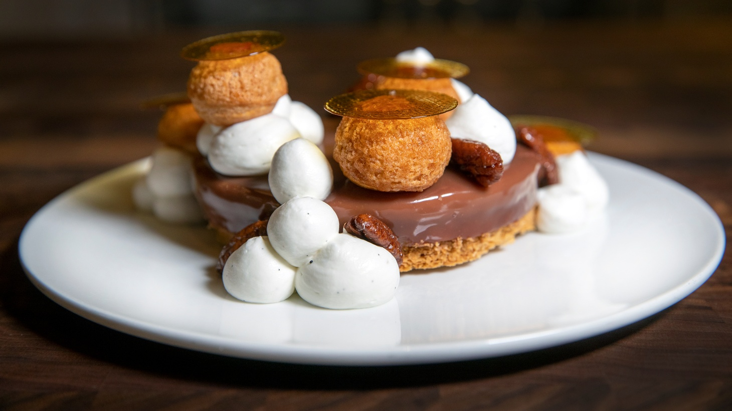 Lincoln Carson's riff on a St. Honoré cake at Bons Temps in downtown's Arts District.