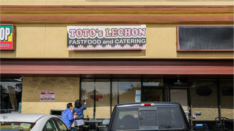 "After wrapping up at Jollibee, Evan Kleiman and the ""sinigang gang"" makes the five-minute drive to  Toto's Lechon Manok  in Glassell Park for some savory, meaty snacks."