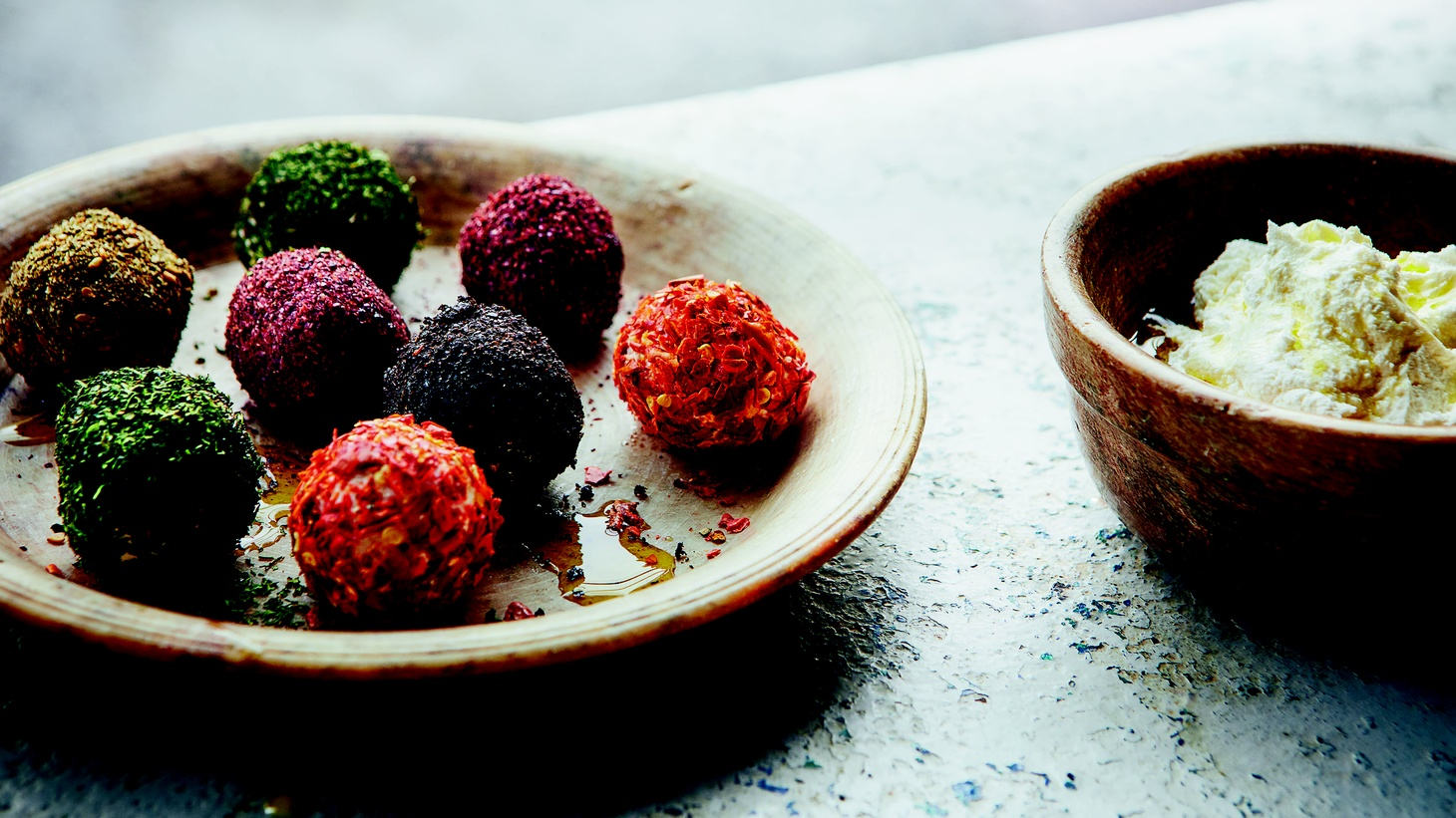 Chef Sami Tamimi recommends labneh balls to break the fast during Ramadan.