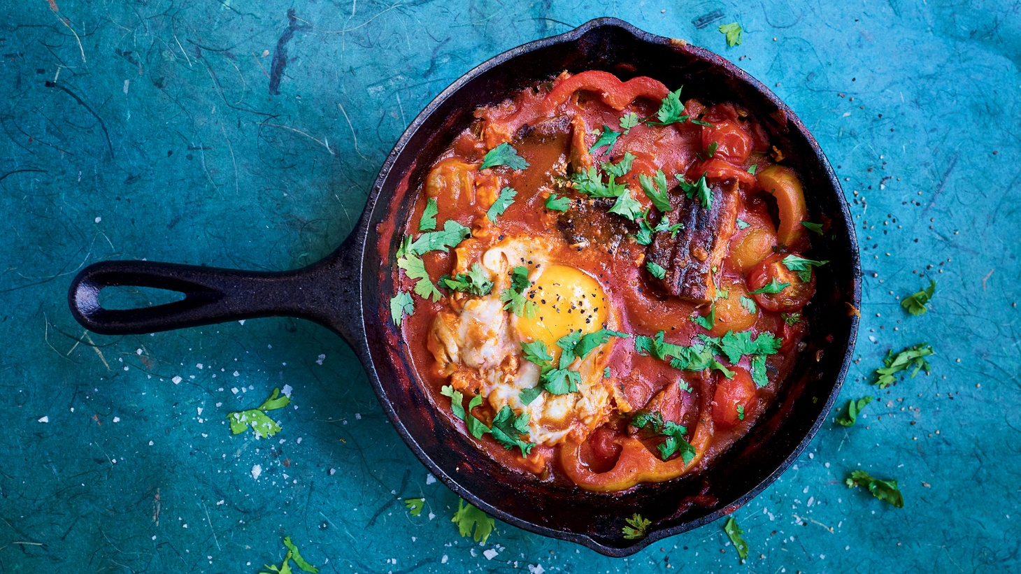 Smoked Herring Shakshuka is the perfect tinned fish breakfast or lunch, according to Bart van Olphen.