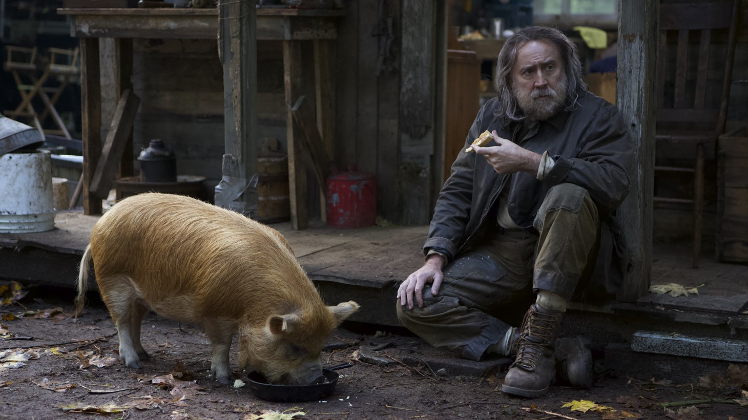 """In """"Pig,"""" Nicolas Cage veers away from the high-octane action role for his quiet and thoughtful performance as a chef who steps away from the business."""