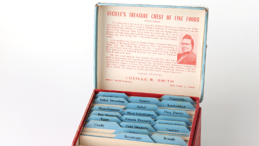 """In more than 200 simple recipes organized to """"lift culinary art from the commonplace,"""" Lucille's Treasure Chest of Fine Foods dates back to 1941."""