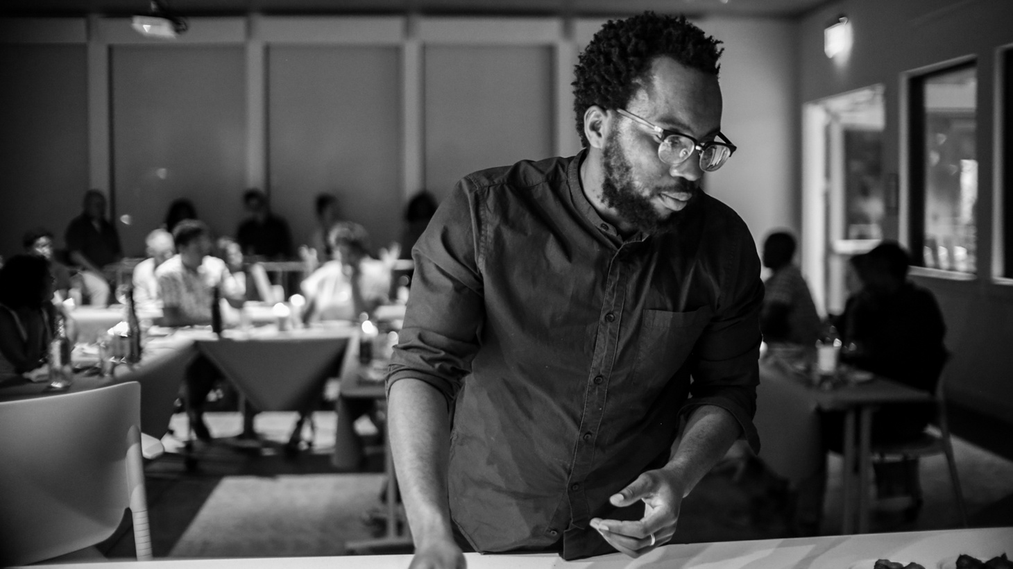 "Chef and activist Tunde Wey has a traveling dinner series called ""Blackness in America."""