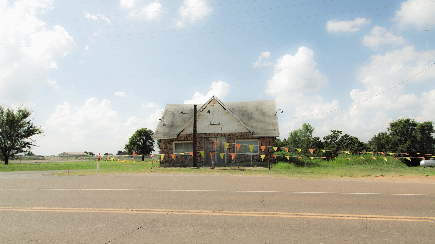Threatt Filling Station in Luther, Oklahoma. It was the most popular black-owned filling station on Route 66.