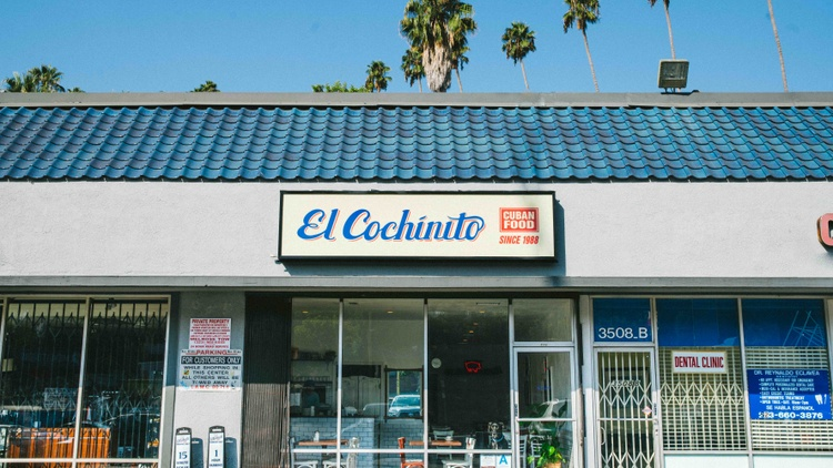 Chef and owner Daniel Navarro's grandmother, Gladys, opened El Cochinito in 1988 in a small strip mall along Sunset Boulevard in Silver Lake.