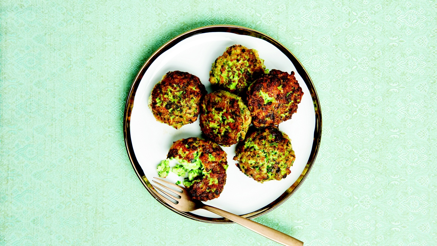The original latkes were made with cheese, not potatoes. Leah Koenig recommends fried fritters, including these chicken fritters with scallion and ginger to celebrate Hanukkah this year.
