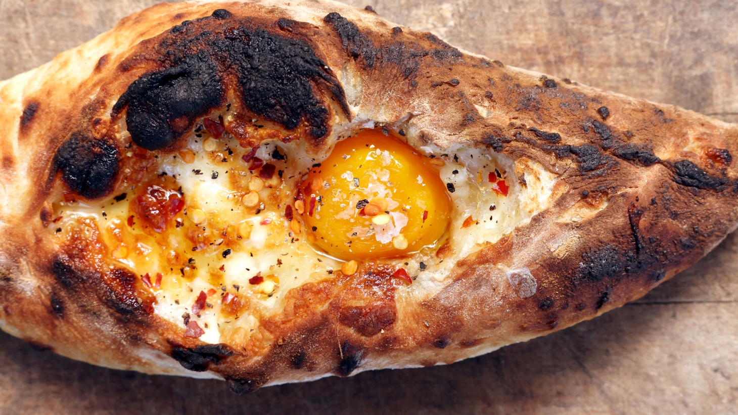 Bill Addison recommends the khachapuri from Emily Efraimov of Little Dacha.