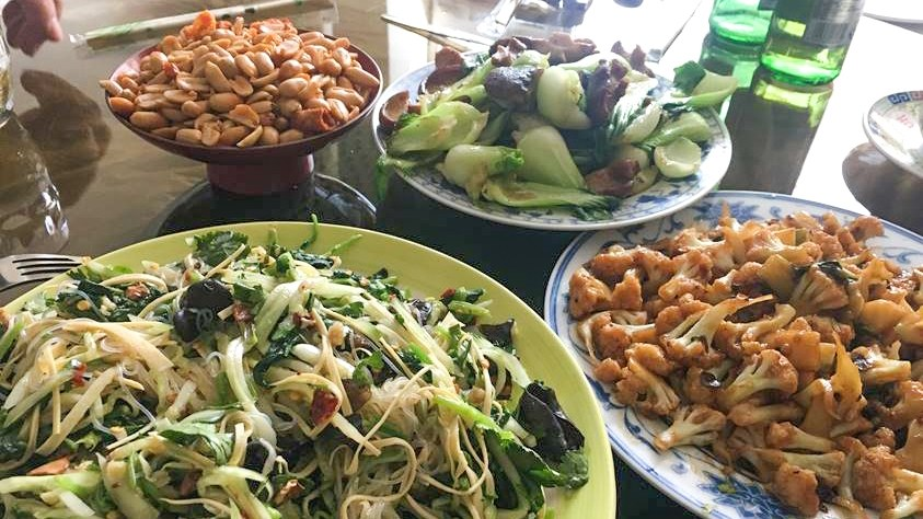A meal cooked by Lulu Wang's real-life grandmother.