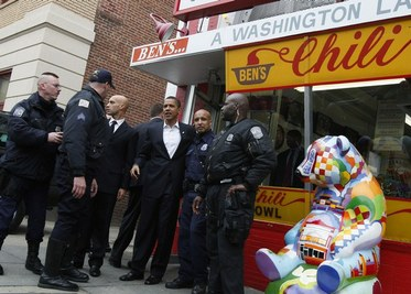 Obama at Ben's Chilli Bowl