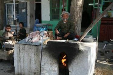 Fish Seller in Afghanistan