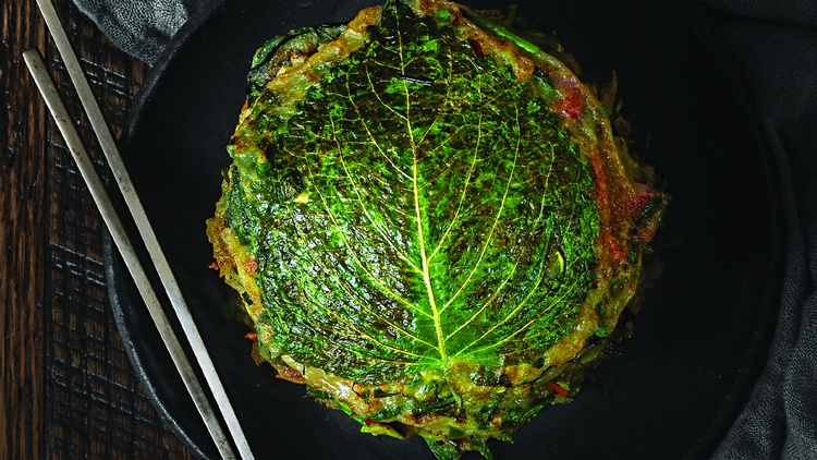Kkenip Buchimgae (깻잎 부침개 • Perilla Leaf and Scallion Pancakes) Makes 12-16 Medium Pancakes DIFFICULTY: Easy ALLERGENS: GFO,NF   When I announced to my family that I was going vegan,…