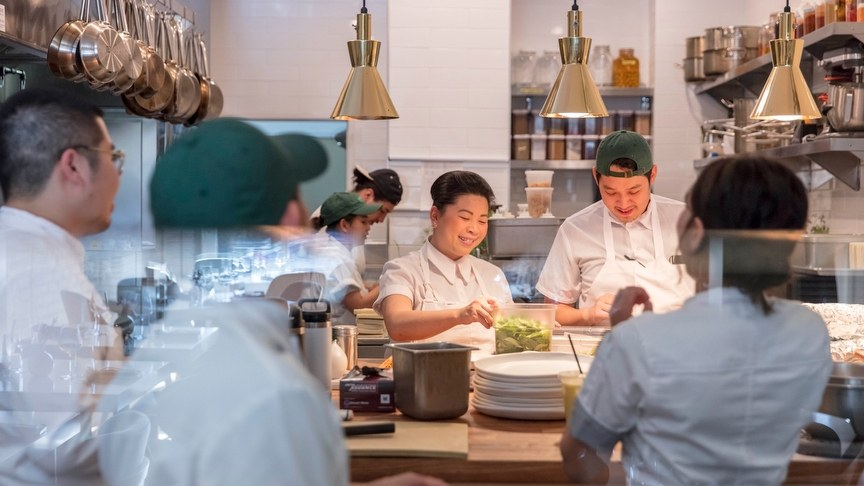 Top Chef winner Mei Lin is wowing diners and critics alike with bold creations such as mapo tofu lasagna and a tom yum bloomin' onion.