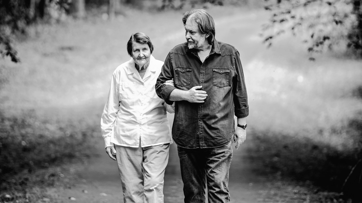 Pulitzer Prize-winning author Rick Bragg and his mom.