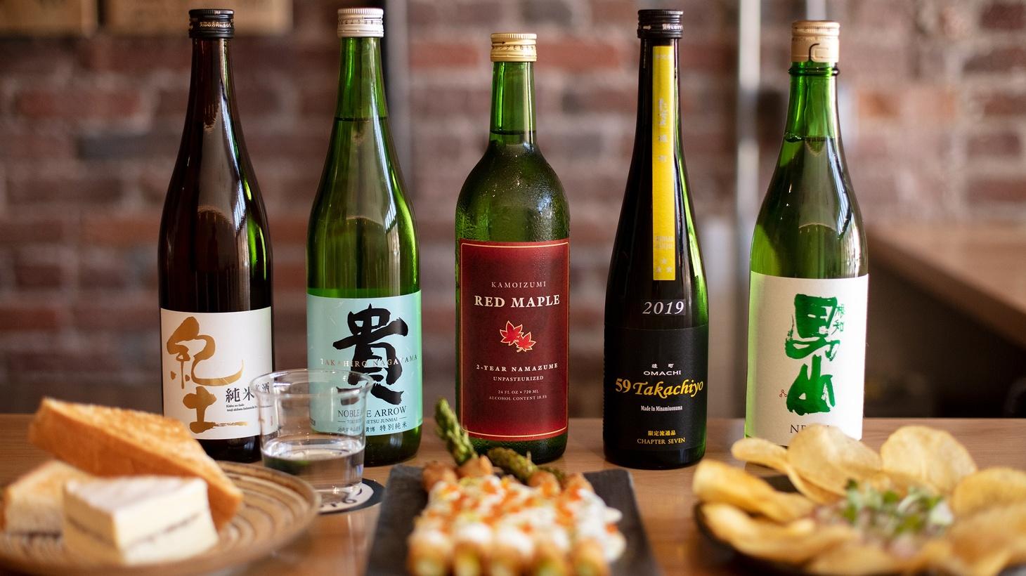 Sake and snacks at Ototo.