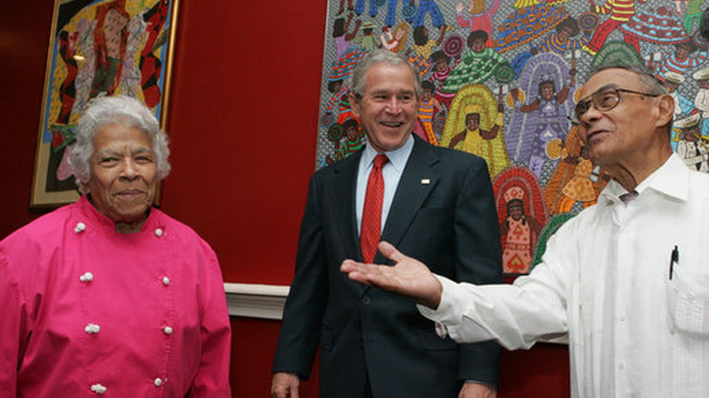 President George W. Bush visiting Dooky Chase's in 2008.