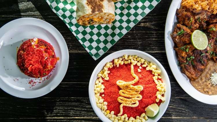 At Tirsa's Mexican Cafe near LA's Chinatown, there are   half-pound burritos   and colossal Hot Cheetos concoctions. L.A. Times restaurant critic   Patricia Escarcega   checks it out.