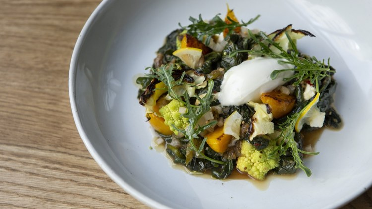LA Times restaurant critic Bill Addison hits up chef Melissa Perello's   new spot   at The Row in downtown Los Angeles. Named after her maternal grandmother, Perello's M.