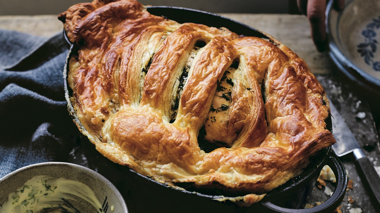 Melissca Clark crosses a French meat dish with chicken pot pie in her recipe for Poule au Pot.