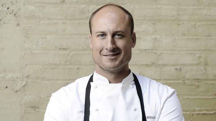 Chef Dave Beran's restaurant   Dialogue   is tucked into the second floor of a food court on Santa Monica's Third Street Promenade.