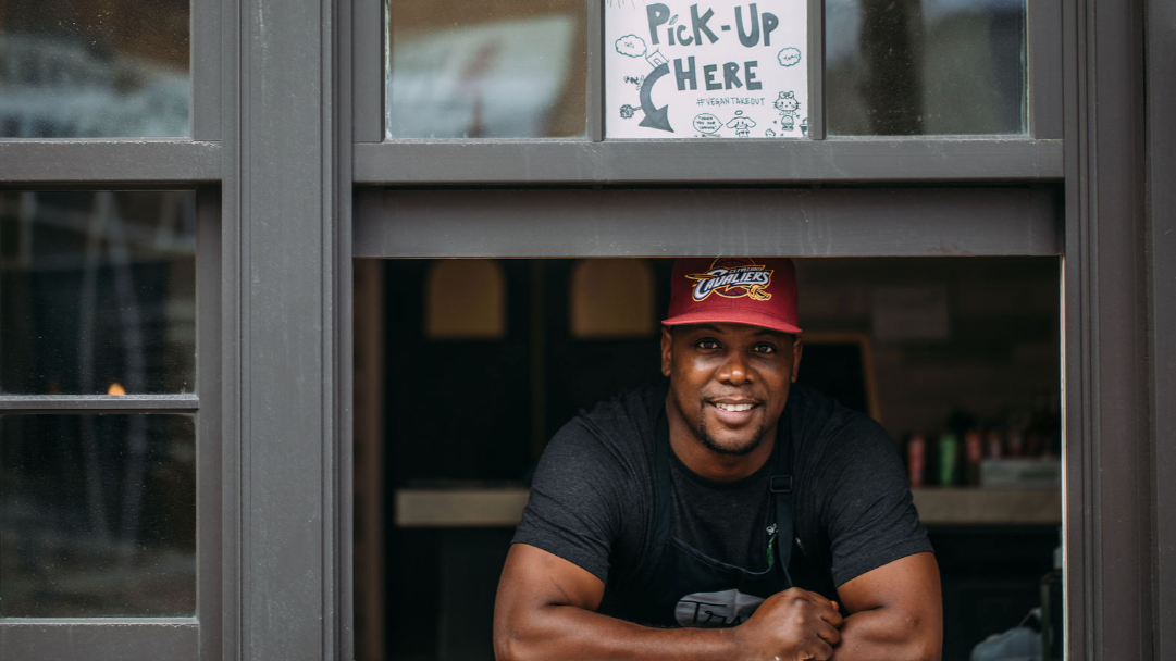 Following an arrest where he was falsely accused, Louis Hunter rebuilt his life by opening a vegan restaurant in Minneapolis.