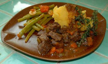 Polenta and Beef Stew