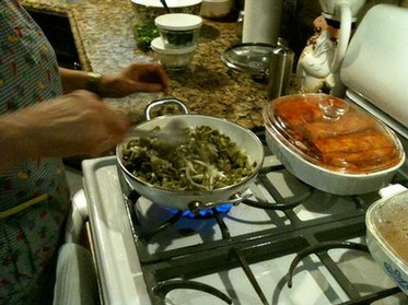 Gustavo's Mom Making Nopales