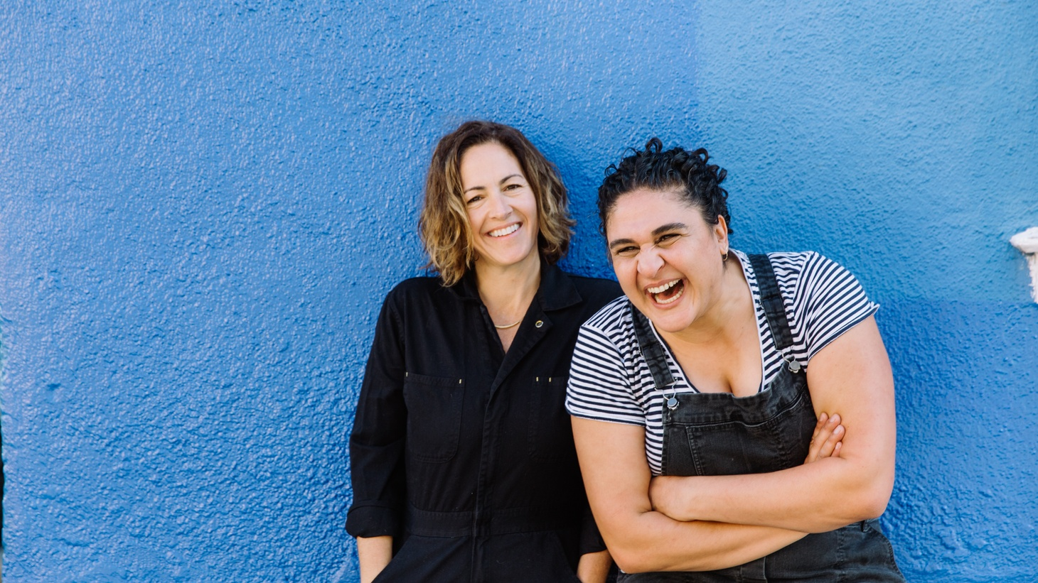 Samin Nosrat (right) convinced Wendy MacNaughton (left) to illustrate her first cookbook over coffee.