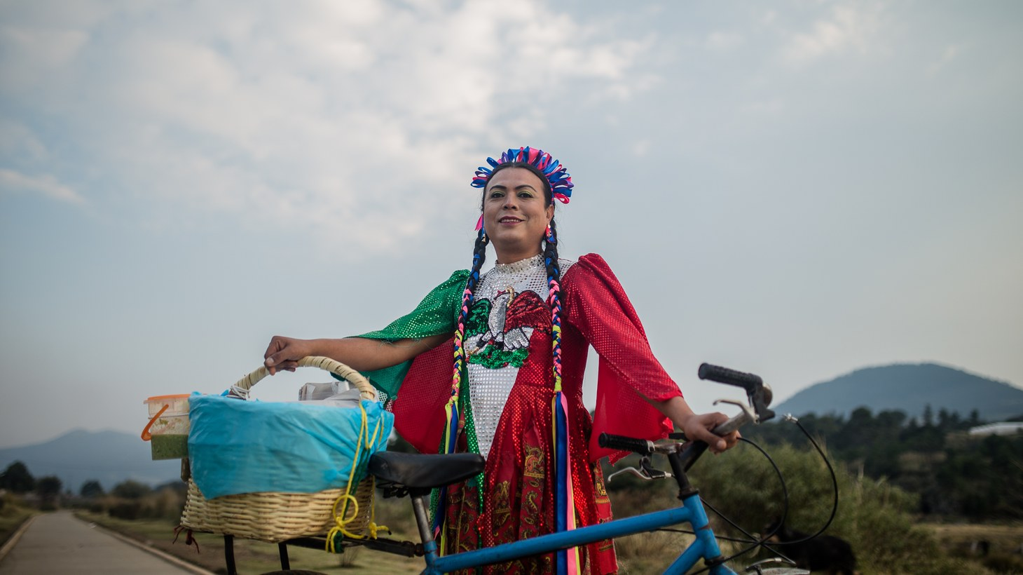 """Marven, better known as Lady Tacos de Canasta, sells basket tacos typically made with beans, potatoes, or chicharrón, in the Netflix series, """"Taco Chronicles."""""""
