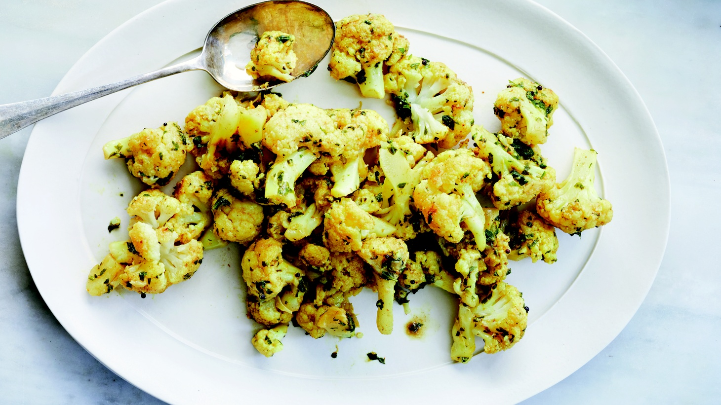 Cauliflower with Cilantro and Ginger.