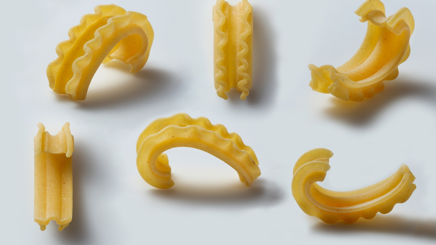 """""""The ruffles of the cascatelli are very playful in the mouth,"""" says Dan Pashman of the new pasta shape he created."""